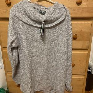 Exofficio grey cowl neck sweater size medium